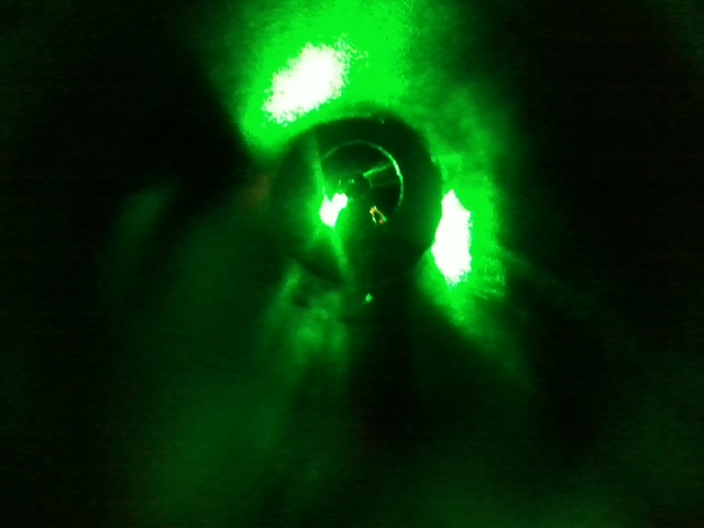The cathode with Green Laser Light.jpg